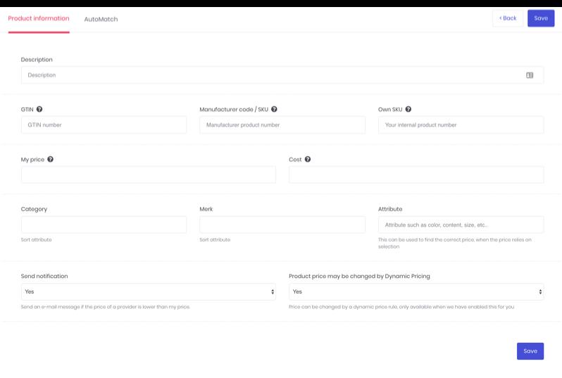 Blog Product informatie toevoegen