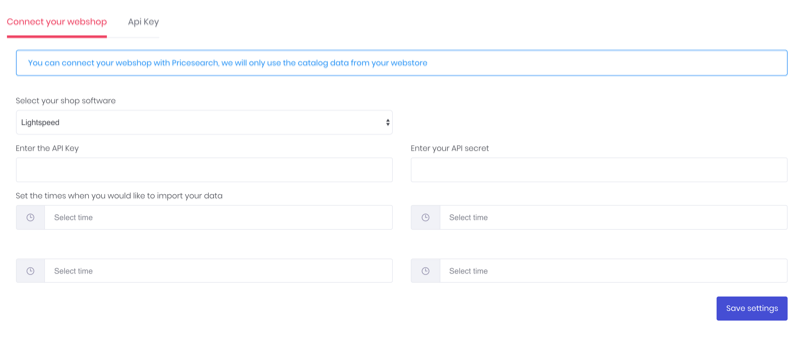 Blog feed webshop